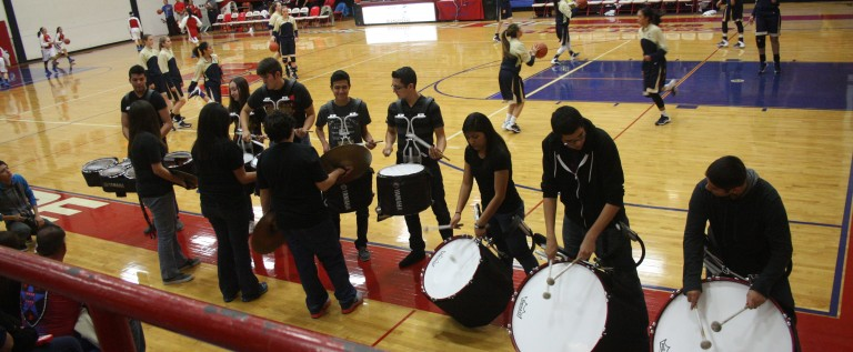 Drum Line and Pipe Band