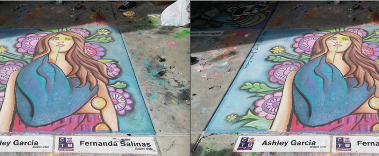 Art earns 1st place at Chalk the Block