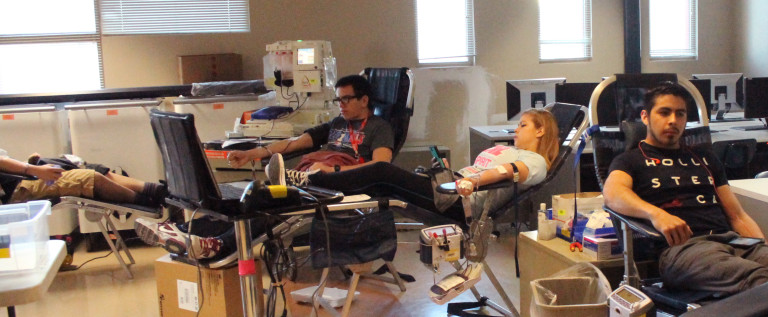 Students do their part by donating blood